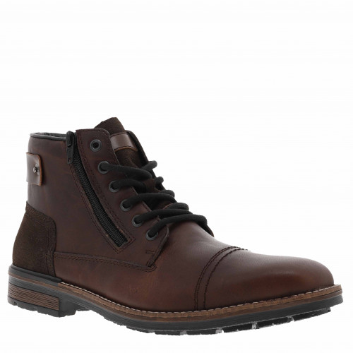 Boots homme cuir brun